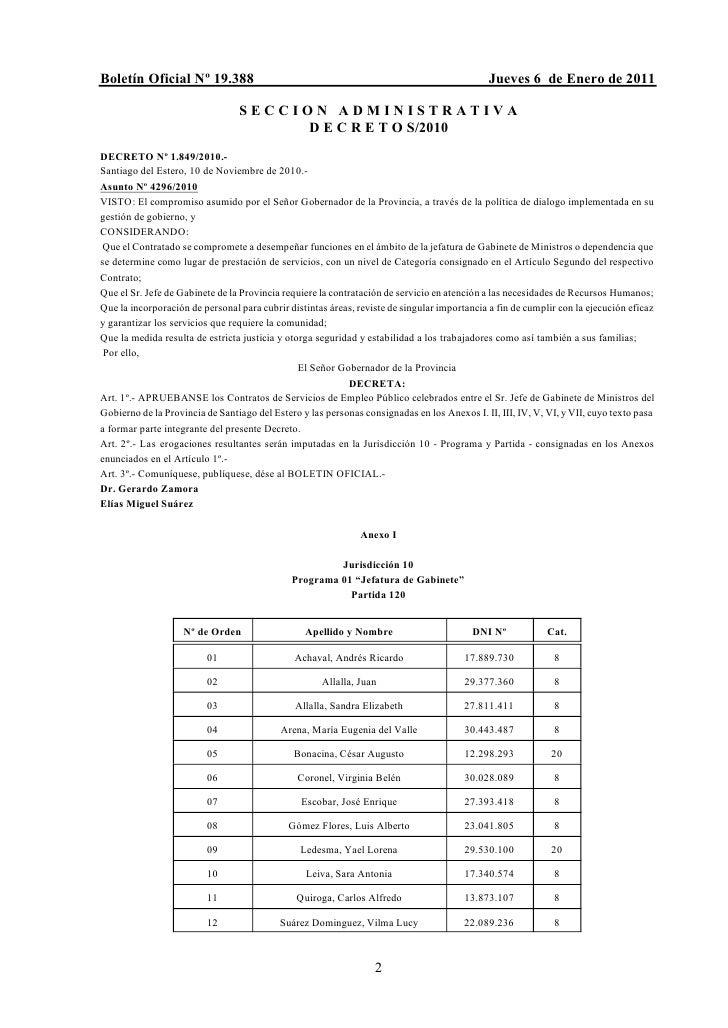 Boletín Oficial Nº 19.388                                                                    Jueves 6 de Enero de 2011    ...