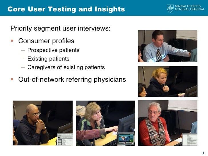 Core User Testing and Insights <ul><li>Priority segment user interviews: </li></ul><ul><li>Consumer profiles </li></ul><ul...