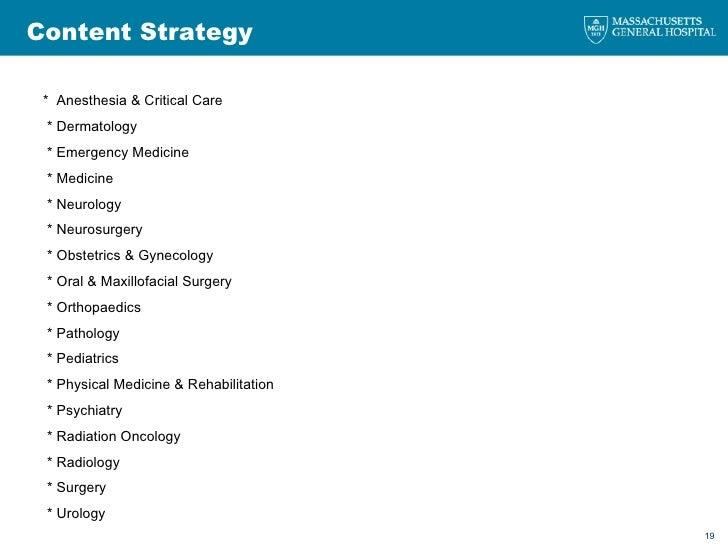 Content Strategy *  Anesthesia & Critical Care * Dermatology * Emergency Medicine * Medicine * Neurology * Neurosurgery * ...