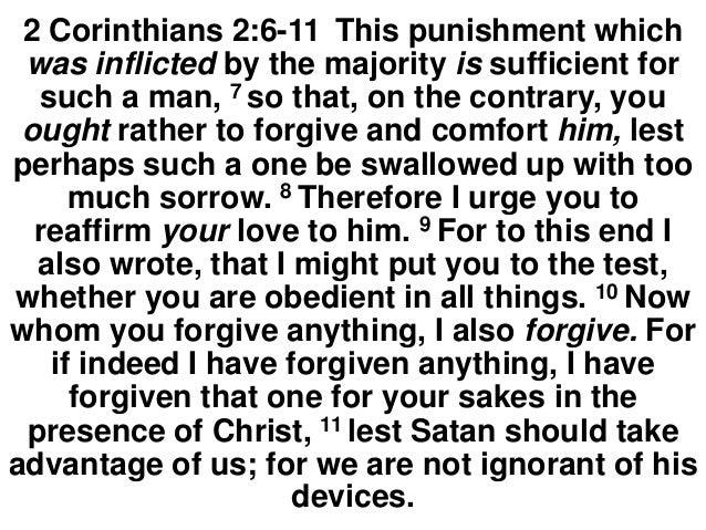 Forgiveness and Satan