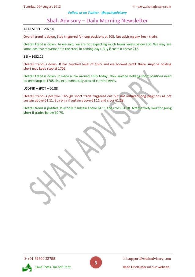Daily Newsletter - 06-08-2013 Slide 3