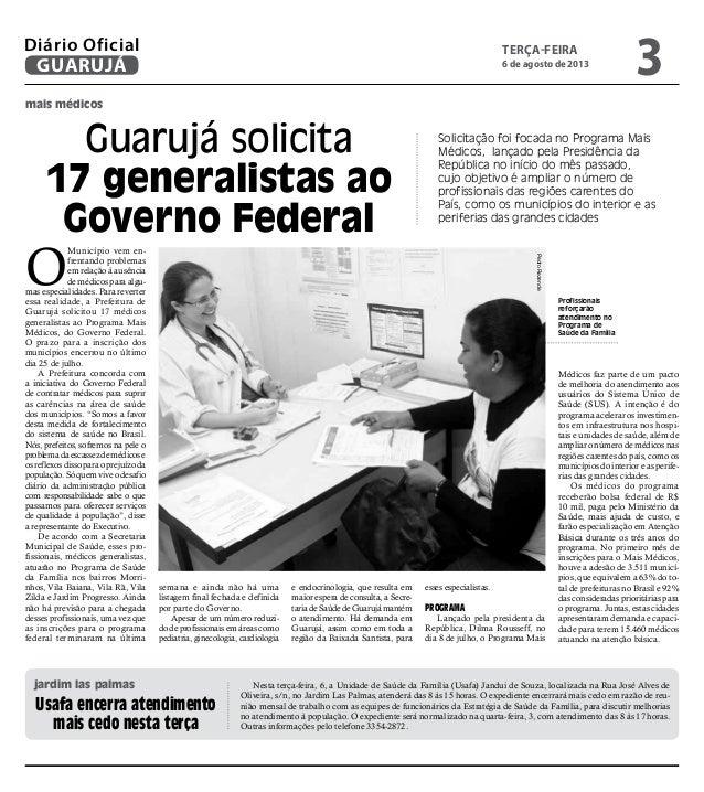 Diário Oficial de Guarujá Slide 3