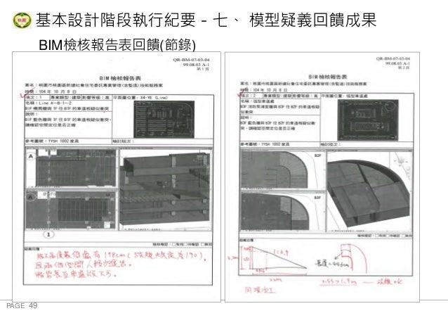 PAGE 49 桃 園 市 政 府 住 宅 發 展 處 BIM檢核報告表回饋(節錄) 基本設計階段執行紀要-七、 模型疑義回饋成果