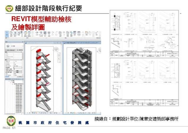PAGE 61 桃 園 市 政 府 住 宅 發 展 處 細部設計階段執行紀要 REVIT模型輔助檢核 及繪製詳圖