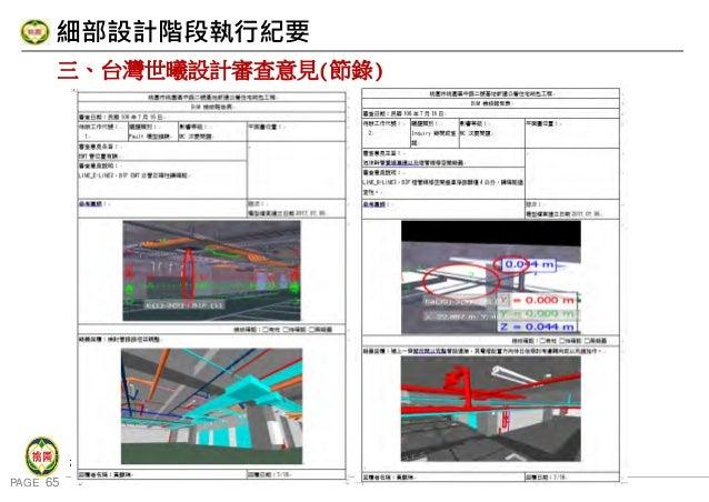 PAGE 65 桃 園 市 政 府 住 宅 發 展 處 細部設計階段執行紀要 三、台灣世曦設計審查意見(節錄)