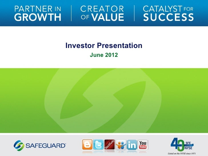 Investor Presentation      June 2012