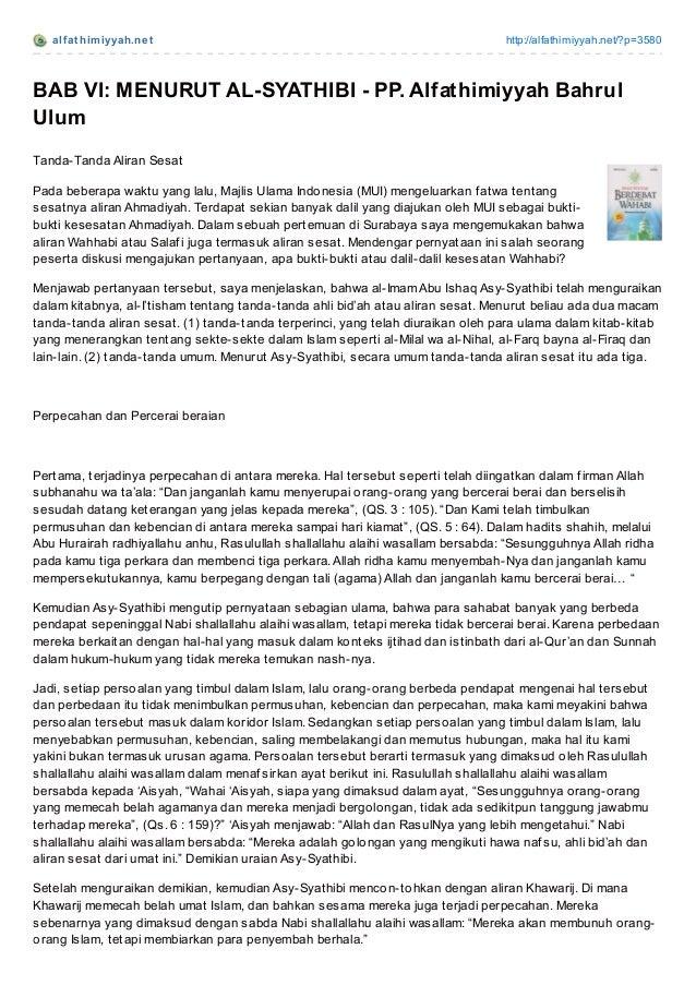 alf at himiyyah.net http://alfathimiyyah.net/?p=3580 BAB VI: MENURUT AL-SYATHIBI - PP. Alfathimiyyah Bahrul Ulum Tanda-Tan...