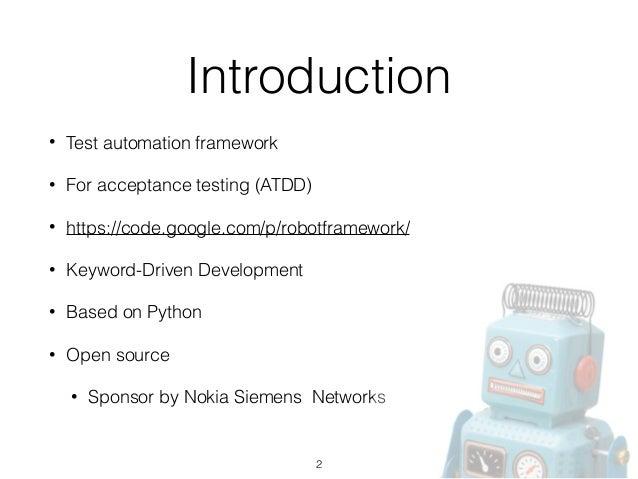Introduction to Robot Framework