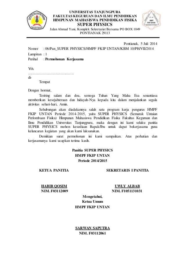 Surat Permohonan Kerjasama Proposal