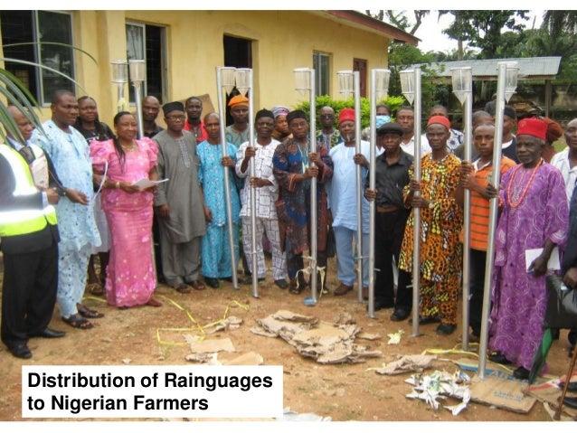 20  Distribution of Rainguages to Nigerian Farmers
