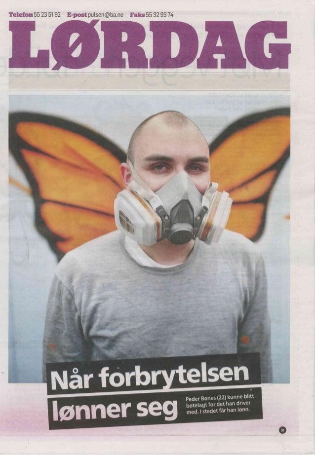 Avisartikkel - Grafitti på Hospitalet Betanien Barne- og ungdomspsykiatriske poliklinikk