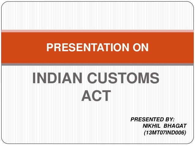 Customs and Excise Act 2018