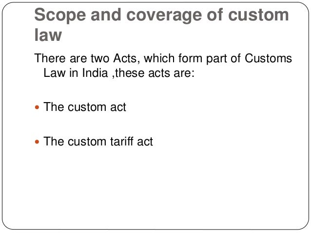 Commissioners of Customs Act