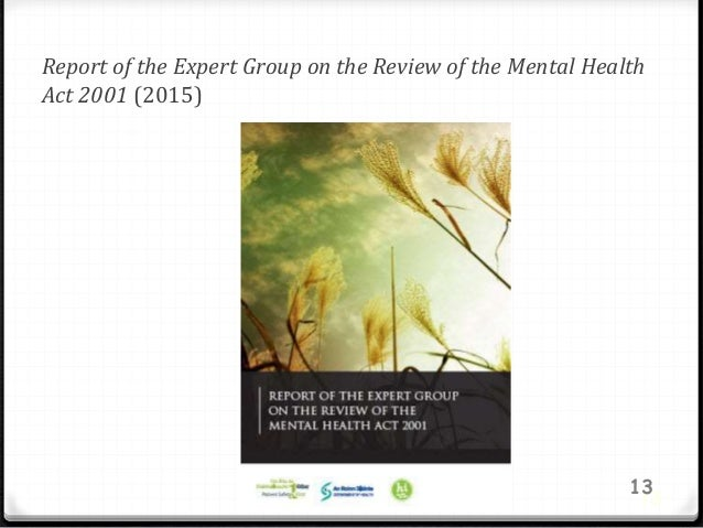Report of the Expert Group on the Review of the Mental Health Act 2001 (2015) 13 13
