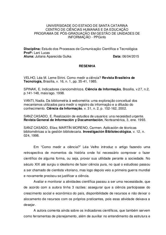 UNIVERSIDADE DO ESTADO DE SANTA CATARINA CENTRO DE CIÊNCIAS HUMANAS E DA EDUCAÇÃO PROGRAMA DE PÓS-GRADUAÇÃO EM GESTÃO DE U...