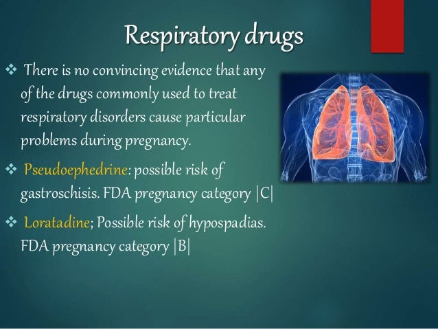  There is no convincing evidence that any of the drugs commonly used to treat respiratory disorders cause particular prob...