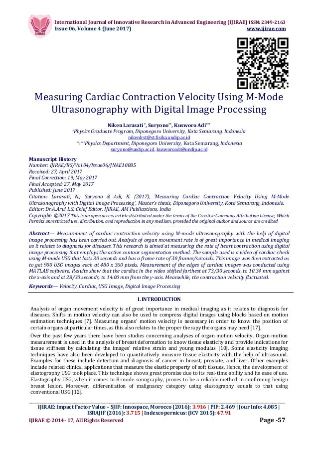Measuring Cardiac Contraction Velocity Using M-Mode