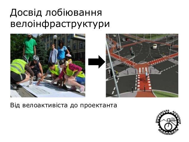 Досвід лобіювання велоінфраструктури Від велоактивіста до проектанта