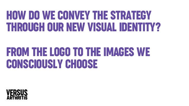 How do we convey the strategy through our new visual identity? from the logo to the images we consciously choose