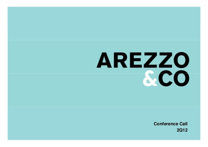 | Apresentação do Roadshow                         Conference Call                                  2Q12                  ...