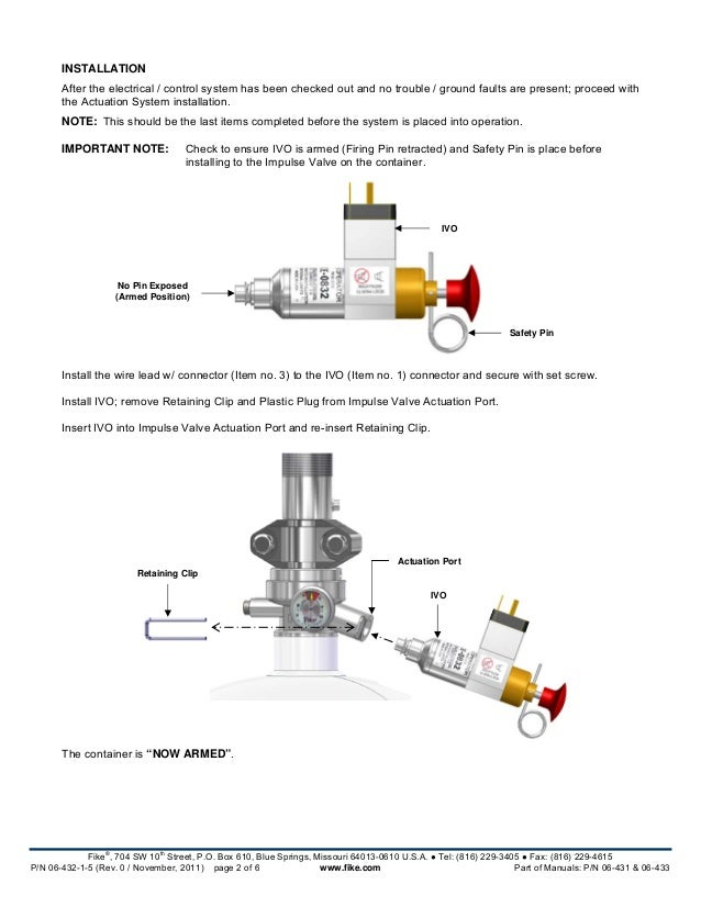Fike 10 063 Installation Manual