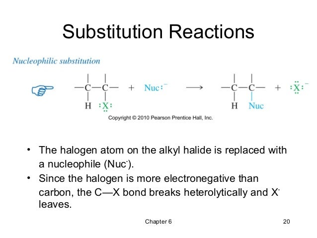 an introduction to the nucleophilic substitution reactions Nucleophilic aliphatic substitution reactions the sn2 mechanism nucleophiles introduction we have seen how chemical kinetics allows chemists to evaluate the impact that changing the substituents attached to the reaction center has on the rates of sn2 reactions.