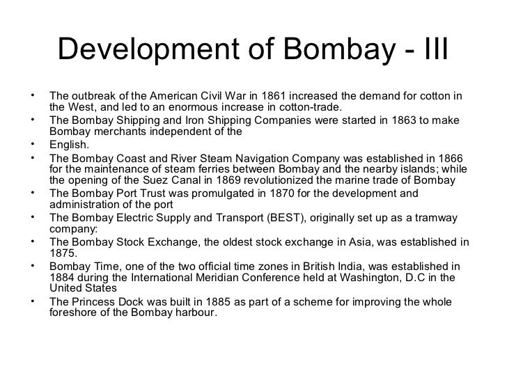 06 bombay as a trading centre