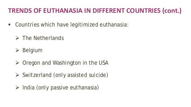 The debate over the morality and practicality of euthanasia