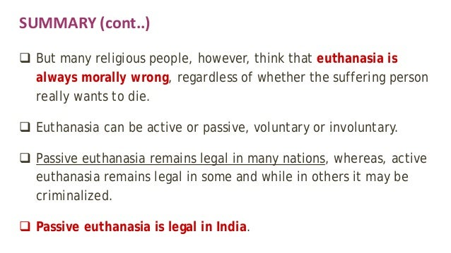 an argument of the moral permissibility of euthanasia The debate on whether euthanasia is morally permissible or not has become one   gives some moral arguments for and against the practice, and states the fact.