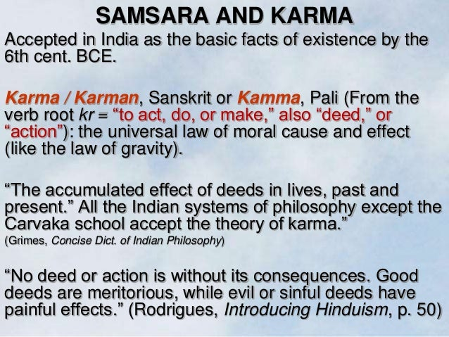 Karma action and its consequences synonym