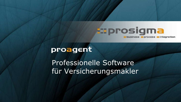 Professionelle Softwarefür Versicherungsmakler