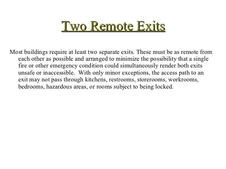 ... 4. Two Remote Exits ...  sc 1 st  SlideShare : emergency doors requirements - pezcame.com