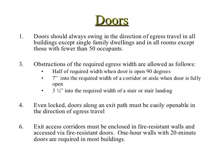 Door Building Codes We Are Seeing More And More Homes That