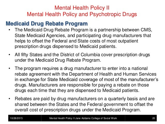 Mental Health Policy - Psychotropic Drugs