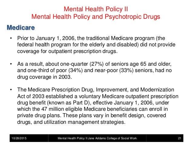 Mental Health Policy Psychotropic Drugs