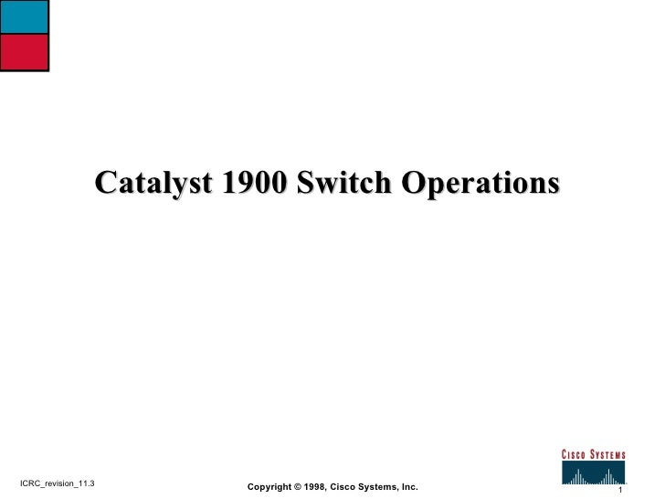 06  module  catalyst 1900 switch operations