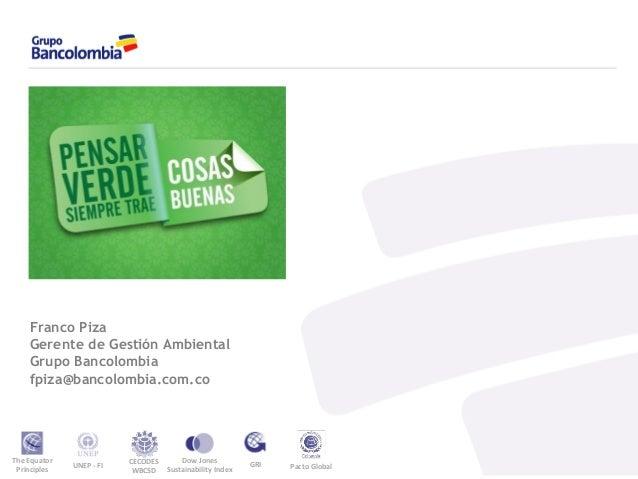 Gesti 243 N Sostenible De Los Inmuebles De Bancolombia