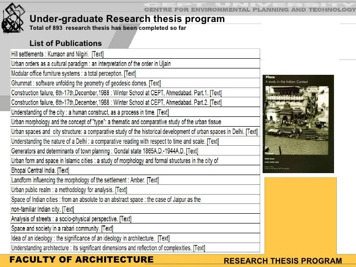 thesis subjects with architecture