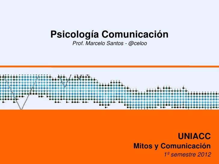 Psicología Comunicación    Prof. Marcelo Santos - @celoo                                        UNIACC                    ...