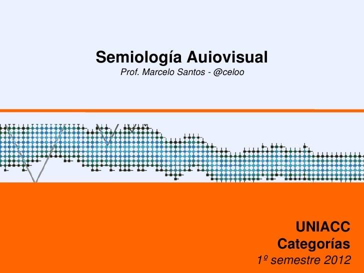 Semiología Auiovisual  Prof. Marcelo Santos - @celoo                                       UNIACC                         ...
