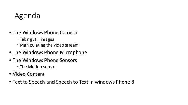 06.Programming Media on Windows Phone Slide 2