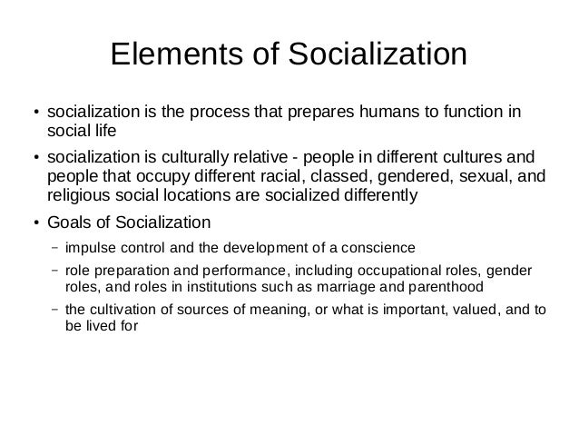 the role played by socialisation in The changing roles of the family in socialization process - free download to our understanding of the traditional role of the family as a primary.