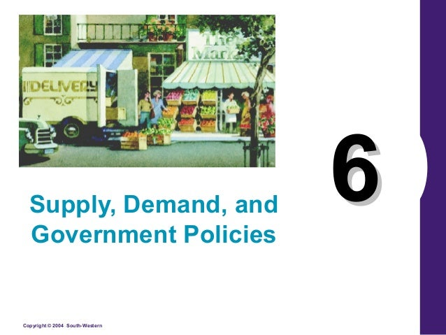 Supply, Demand, and Government Policies  Copyright © 2004 South-Western  6