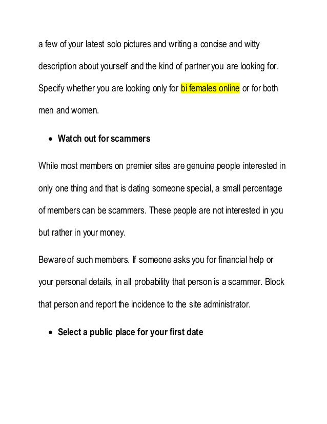 Dating site description tips