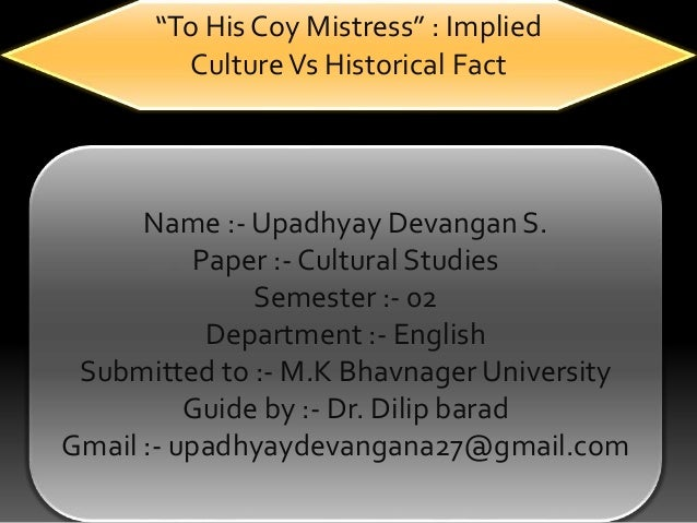 his coy mistress essay to his coy mistress essay