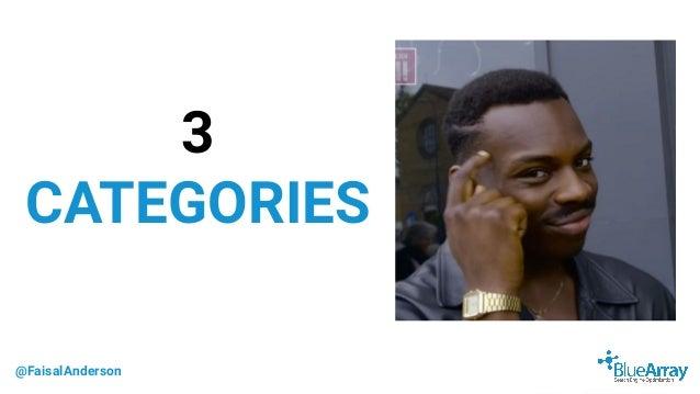 @FaisalAnderson 3 CATEGORIES