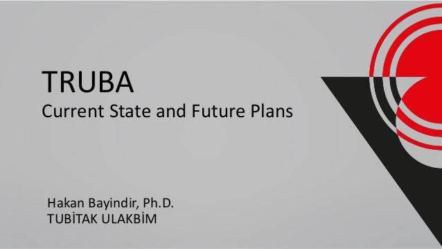 TRUBA Current State and Future Plans Hakan Bayindir, Ph.D. TUBİTAK ULAKBİM
