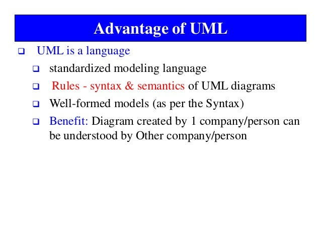 Unified modeling language advantage of uml ccuart Gallery