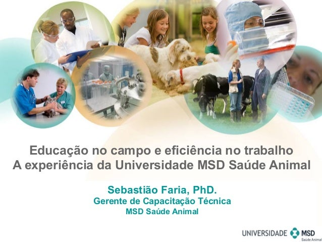 Sebastião Faria, PhD. Gerente de Capacitação Técnica MSD Saúde Animal Educação no campo e eficiência no trabalho A experiê...