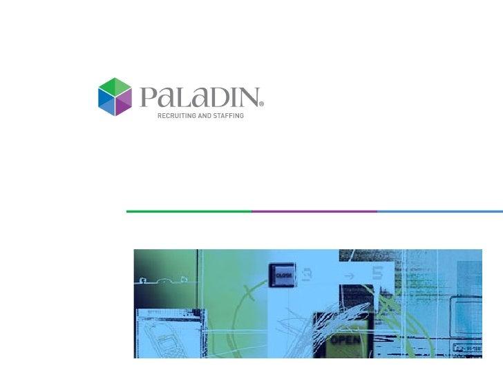 PALADIN AT A GLANCE
